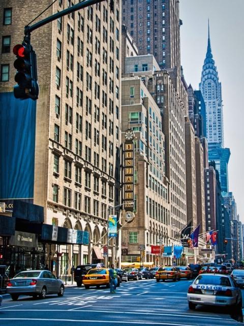 ニューヨークのビル街の風景