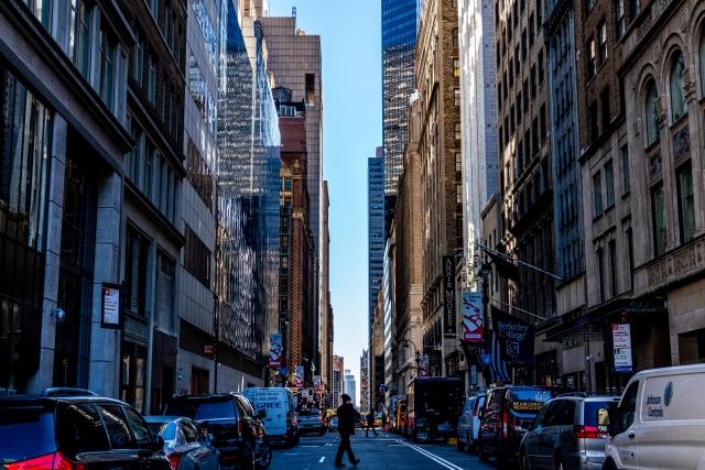ニューヨーク マンハッタンの光景